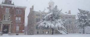 Urshan campus in winter
